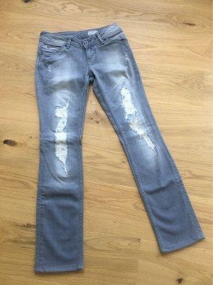 Tommy Hilfiger Denim Jeans vita bassa grigio