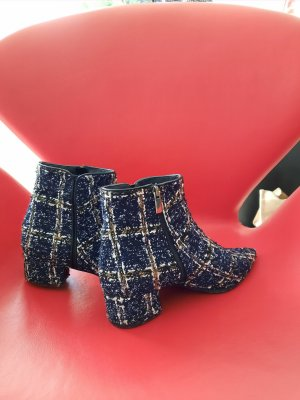 Evaluna Zipper Booties dark blue