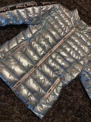 Coole Übergangs Jacke im Metallic Look, Gr L, eher Gr M, Neu