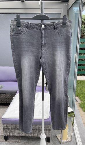 100% Fashion Jeans stretch gris foncé-gris anthracite