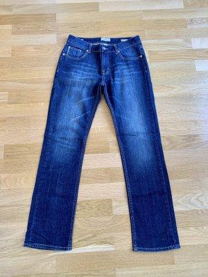 Vanilia Jeansy z prostymi nogawkami ciemnoniebieski Bawełna