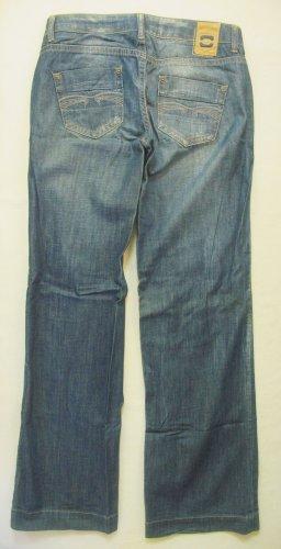 Only Jeans baggy bleu-bleu acier coton