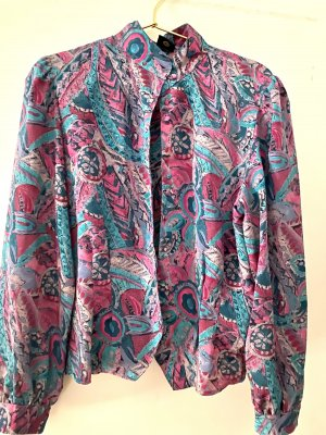 Reclaimed Vintage Shirt Blouse raspberry-red-petrol