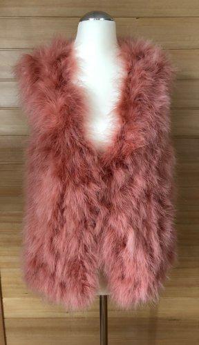 Riani Fur vest dusky pink-pink mixture fibre