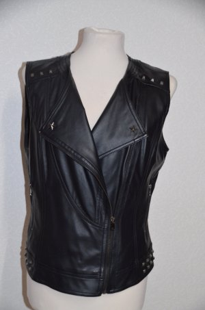 Biker Vest black imitation leather