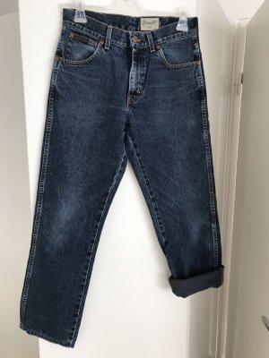 Wrangler Jeans a vita alta blu scuro