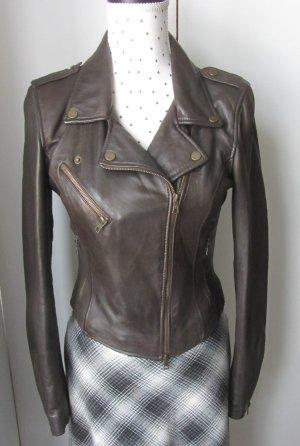 coole Zara Trafaluc Leder Jacke Biker Jacke Gr. M braun wenig getragen