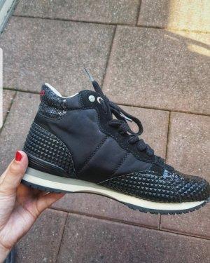 Pepe Jeans Sneakers met veters zwart-zilver