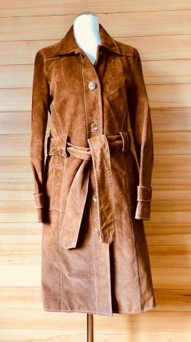 Riani Leather Coat cognac-coloured-brown leather