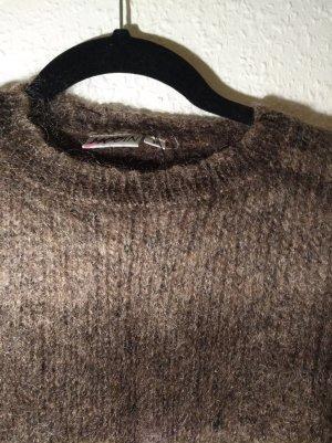 Maglione di lana talpa-marrone-grigio Lana