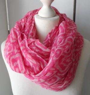 cooler Esprit Loop Schal Pink Weiß nur wenig getragen