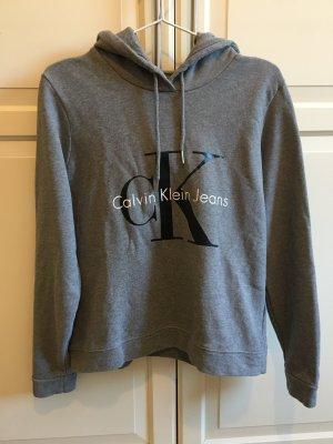 Calvin Klein Jeans Sweatshirt met capuchon grijs-donkergrijs