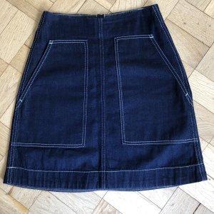 ARKET Denim Skirt blue-dark blue cotton