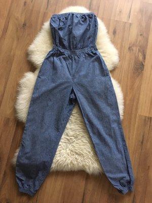 American Apparel Jumpsuit blauw Katoen
