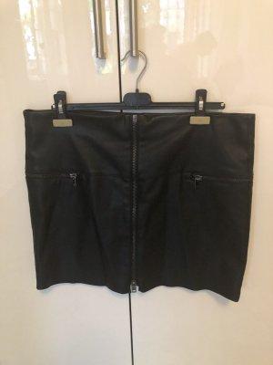Esprit Spódnica z imitacji skóry czarny