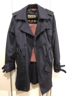 Superdry Trench Coat dark blue