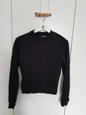 ADPT. Felpa nero Cotone