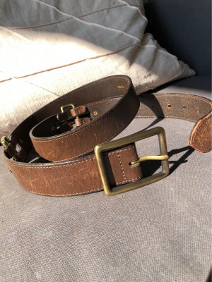 Leather Belt brown-bronze-colored leather
