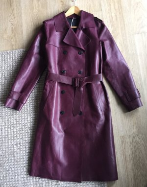 Closed Cappotto in pelle carminio Pelle
