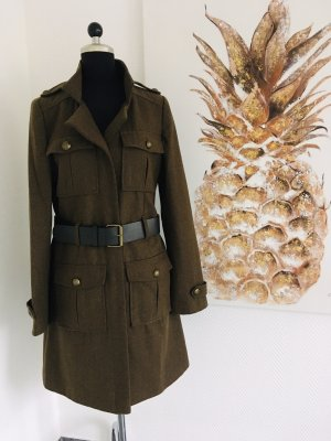 Abrigo corto verde oscuro-negro