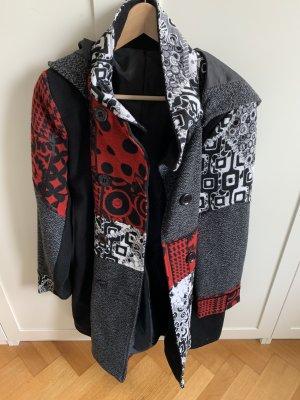 keine Marke Hooded Coat black-dark red