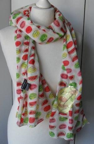 cooler Samaya Schal mit Melonen Print und Patches nur wenig getragen