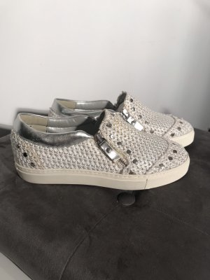 The No Animal Brand Sneaker slip-on bianco-argento