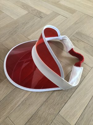 Sun Hat white-brick red mixture fibre