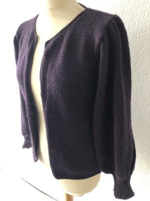 rabens saloner Veste tricotée en grosses mailles brun pourpre laine