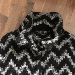 Benetton Oversized jas zwart-grijs
