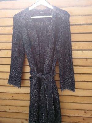 Zara Manteau en tricot bleu