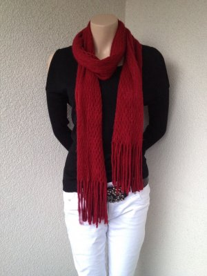 Knitted Scarf dark red