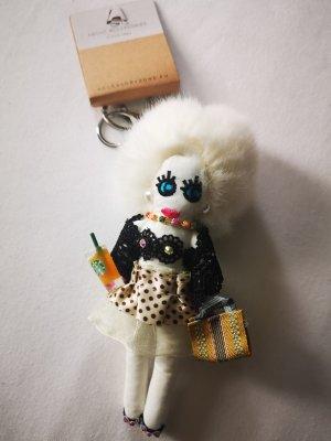 cooler stylischer Schlüssel - /Taschenanhänger Puppe NEU blond