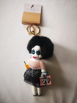 cooler stylischer  Schlüssel - /Taschenanhänger Puppe NEU