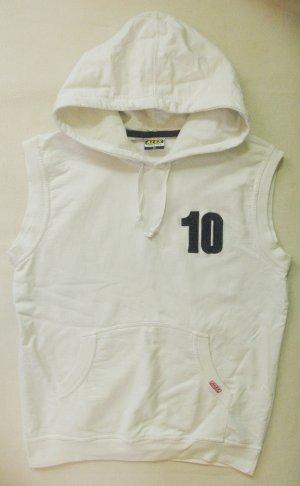 Alex Athletics Sudadera con capucha blanco tejido mezclado