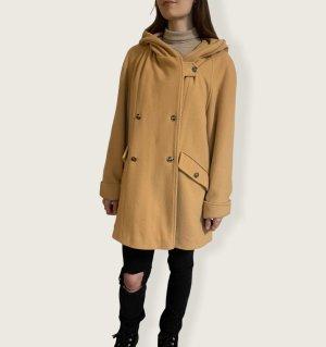 Vintage Manteau à capuche brun sable