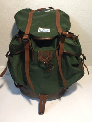 Trekking Backpack brown-forest green synthetic material