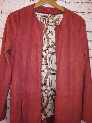 s.Oliver Short Coat dark orange suede