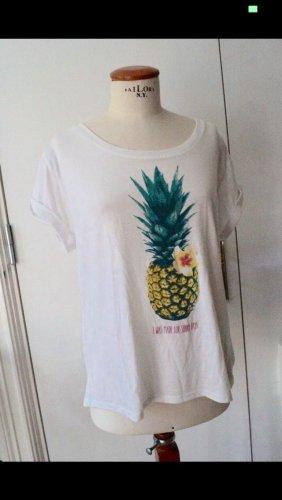 Cooles Ananas Print Shirt Gr.M