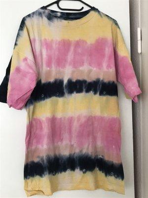 Koszulka typu batik różowy-bladożółty