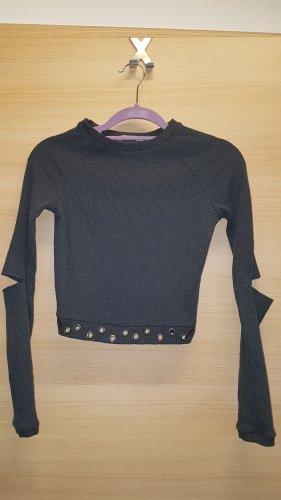 Bershka Long Sleeve Shirt dark grey