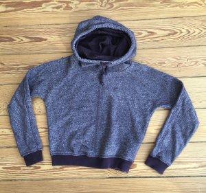 Nike Felpa con cappuccio grigio-lilla Cotone
