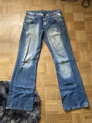 Italy Style Jeans boyfriend bleu azur