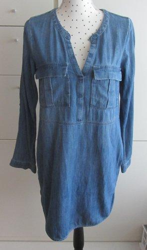edc by Esprit Jeansowa sukienka niebieski Bawełna
