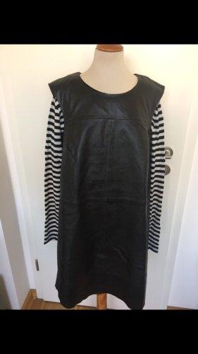 Esprit Leren jurk zwart