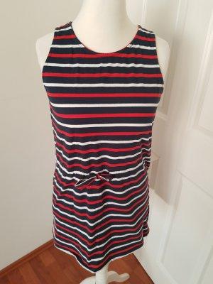 Sukienka dresowa biały-czerwony