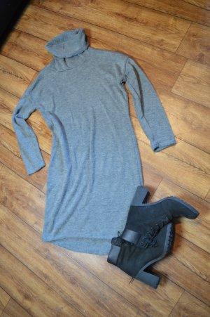Vestido con capucha gris claro-gris