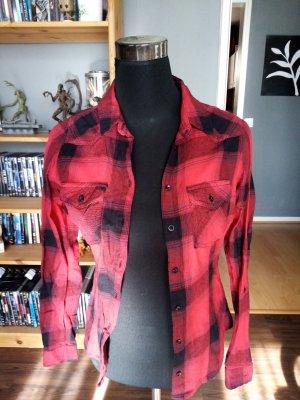 Tally Weijl Chemise de bûcheron rouge-noir coton