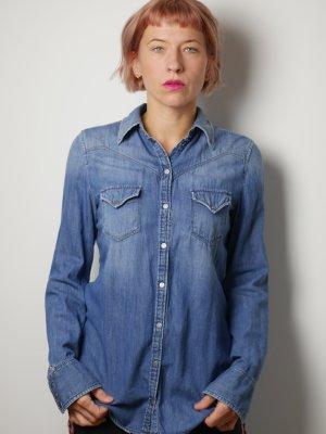cooles Jeanshemd / Jeans Bluse von Diesel Gr. S