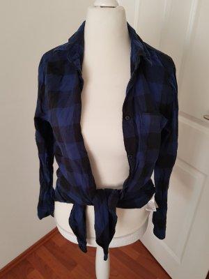 cooles kariertes hemd gr.40 blau schwarz